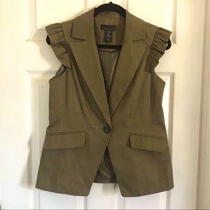 4/$10 Ruffle Shoulder Sleeveless Vest